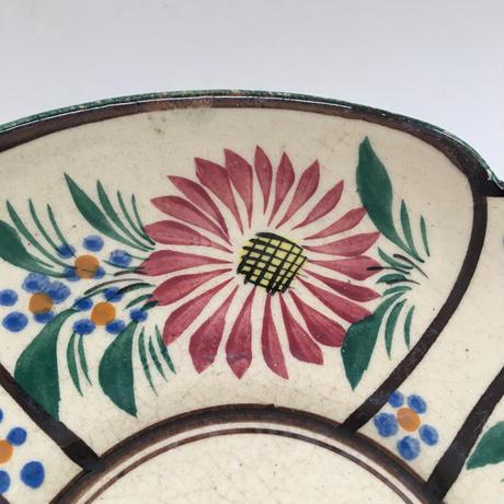 20世紀 カンペール カップ&ソーサー ハンド・ペイント 女性とお花