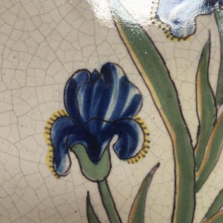 19世紀後半 マリコルヌ BPX ディナープレート 菖蒲柄