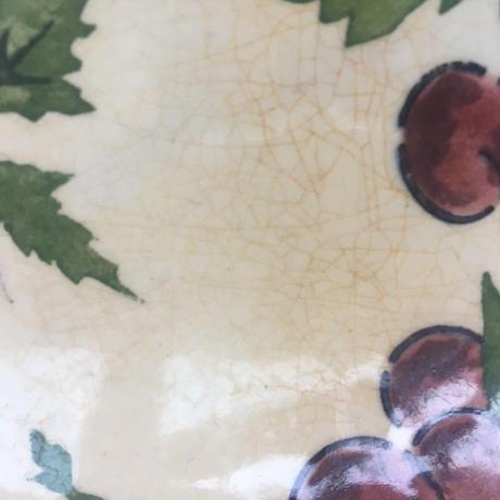 19世紀後半 ジアン デザート・プレート プラム柄