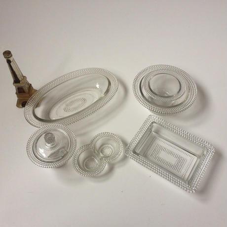 1959年代 セル・エ・ポワーヴル ソルト&ペッパー入れ ガラス製 パールスカラップ 業務用