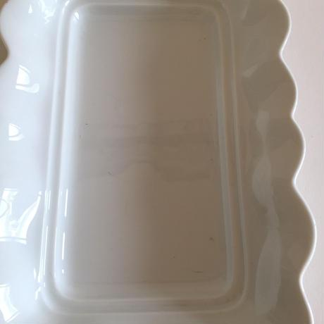 リモージュ 白磁器製 アスパラガス・プレート