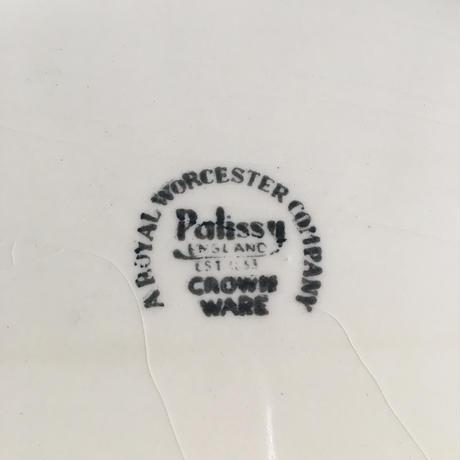 1970年代 イギリス製 パリッシー窯 大皿 オーヴァル・プレート サイズL
