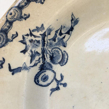 1886年 ジアン シャルドン スーププレート あざみ柄 ブルー