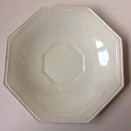 19世紀前半 モントロー ソーサー 小皿 プレート オクトゴナル パールリム 白 1