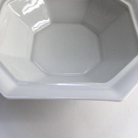 1920年代 リモージュ Fルグラン 白磁器 オクトゴナル型 サラディエ