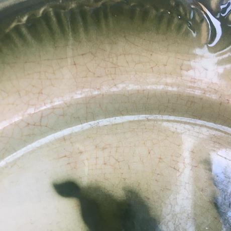 19世紀 ジアン デザート・プレート お花柄 グリーン
