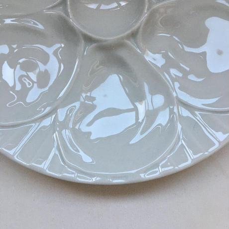 ピリヴュイ アシエット・ア・ユイットル オイスター・プレート 白磁器 1ー6