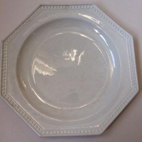 19世紀 モントロー デザートプレート 中皿 オクトゴナル パールリム 4