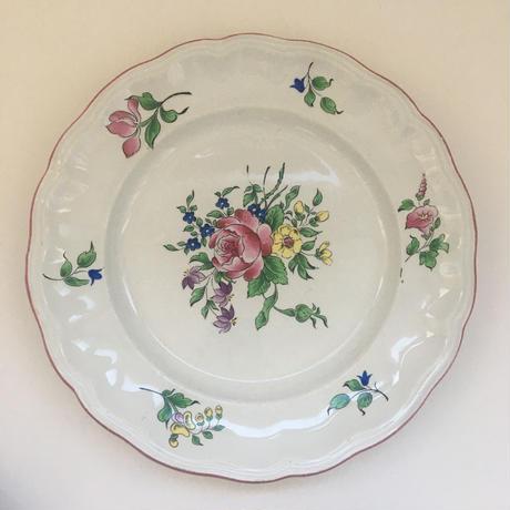 1970年代 リュネヴィル チャイナ ディナー・プレート 平皿 ストラスブール柄 1ー9