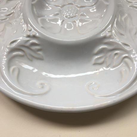 シャロル プラ・ア・ラーティショー アーティチョーク・プレート 白陶器 1-2