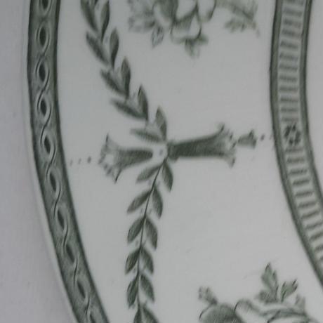 イギリス製 ミントン ディナー・プレート フランクフルト ばらと花飾り 柄 グリーン