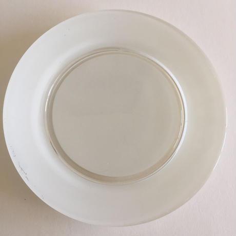 1960年代 デュラレックス 強化ガラス ディナー・プレート 平皿 ペイント 白