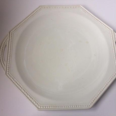 19世紀 モントロー デザートプレート オクトゴナル パールリム