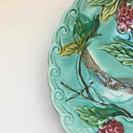 19世紀後半 サルグミンヌ? バルボティーヌ デザート・プレート 小鳥柄 2