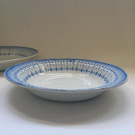 19世紀後半 クレイユ・エ・モントロー フローラ・ロカイユ ブルー サラディエ 1-2