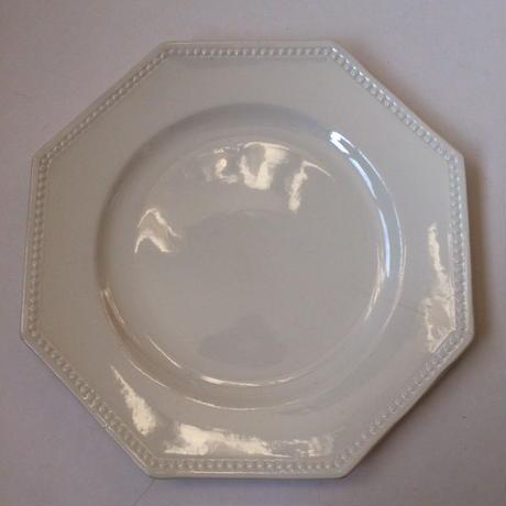 1920年代 サルグミンヌ デザートプレート オクトゴナル クリーム色 1