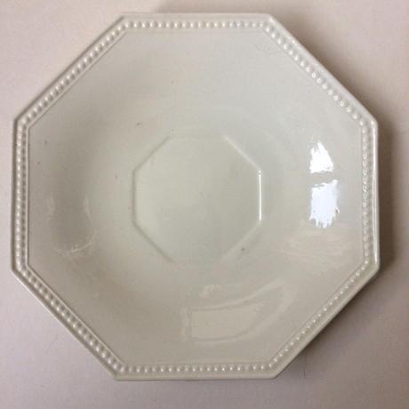 19世紀前半 モントロー ソーサー 小皿 プレート オクトゴナル パールリム 白 2
