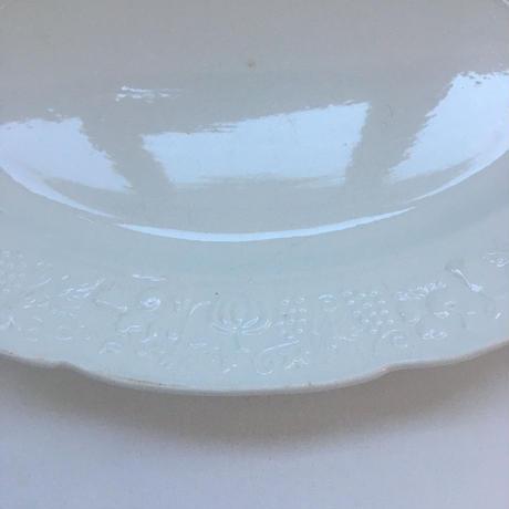1920年代 ディゴワン サルグミンヌ(刻印なし) プラ・オーヴァル 楕円形大皿 フルーツ・レリーフ