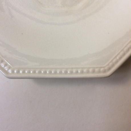 19世紀前半 モントロー ソーサー 小皿 プレート オクトゴナル パールリム 白 3