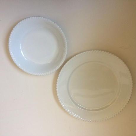 1920年代 リュネヴィル バドンヴィレー レリーフ 大皿とスープ皿 2枚セット
