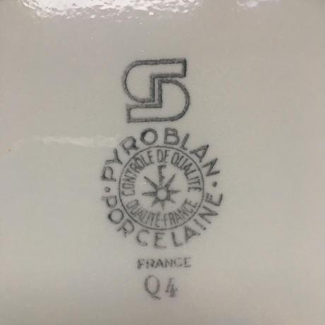 1960年代 サルグミンヌ ピロブラン ディナー・プレート 白磁器 1-3