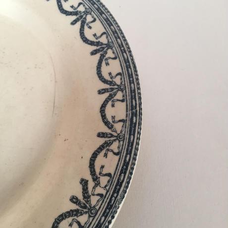 19世紀 サラン ディナープレート 平皿 ギルランド・ドゥ・ルイ16世