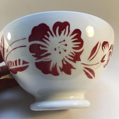 1970年代 サルグミンヌ カフェ・オ・レボウル 花柄 レッド