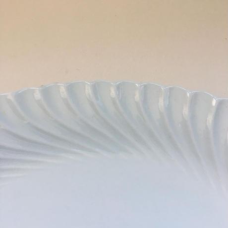 刻印なし トルサード 白磁器 オーヴァルプレート