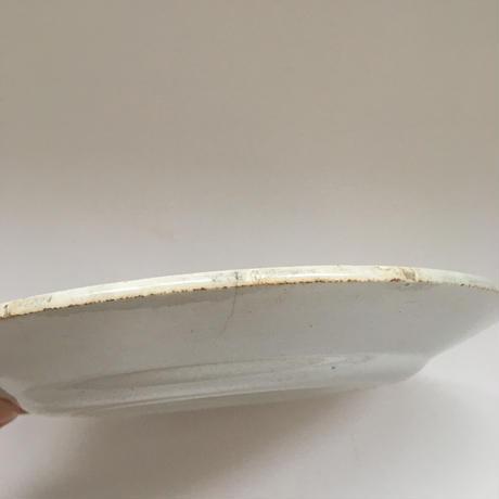 19世紀後半 ショワジー・ル・ロワ ハンドペイント ディナープレート にわとり柄