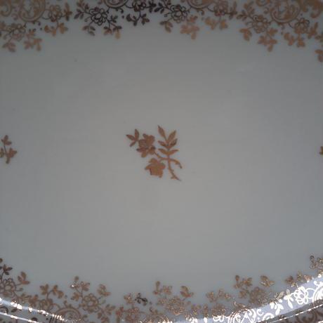 1950年代 リモージュ ラヴィエ ゴールド小花柄 1−2