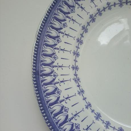 19世紀半ば クレイユ・エ・モントロー ルブーフ・ミリィエ ロカイユ 大皿  Sサイズ 1−2