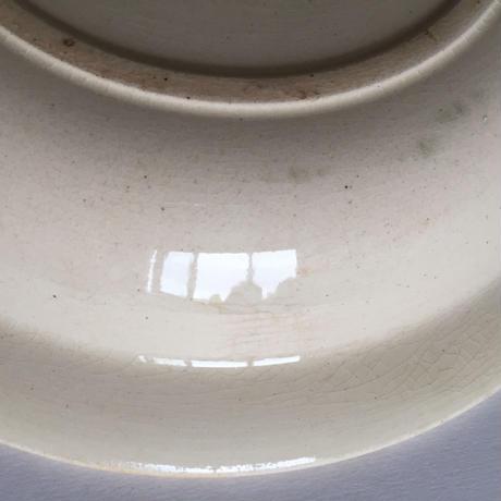 1940年代 ジアン プレート 大深皿 円形 ストライプ+小花柄
