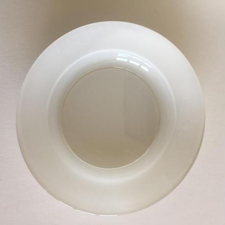 1960年代 デュラレックス 強化ガラス スープ・プレート 深皿 ペイント 白