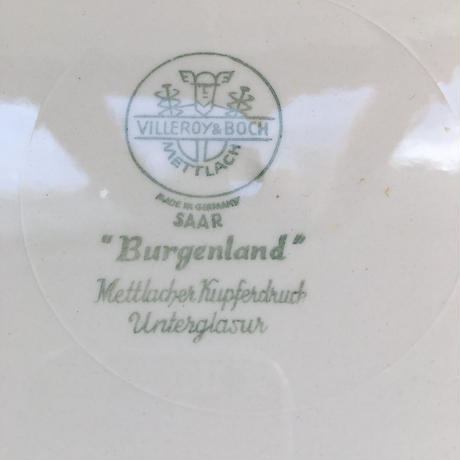 1950年代 ビレロイ・ボッホ 取っ手付き デザート・プレート