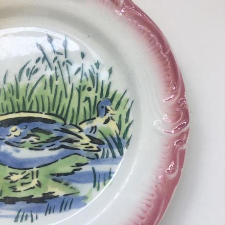 19世紀後半 ジアン デザート・プレート カナール 鴨柄