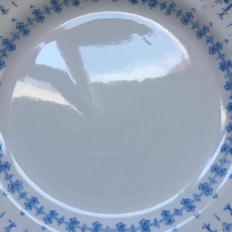 19世紀後半 クレイユ・エ・モントロー フローラ・ロカイユ ブルー デザート・プレート 21cm 2