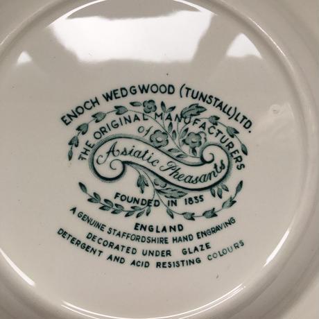 1960年代 エノク・ウェッジウッド アジアン・フェサント スープ・プレート グリーン1−7
