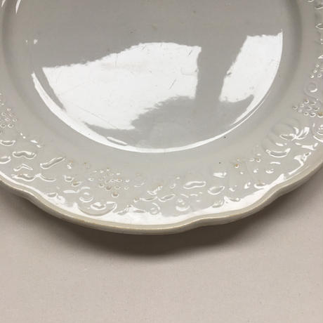 1920年代 ディゴワン サルグミンヌ ディナー・プレート フルーツ・レリーフ 花リム 1−3