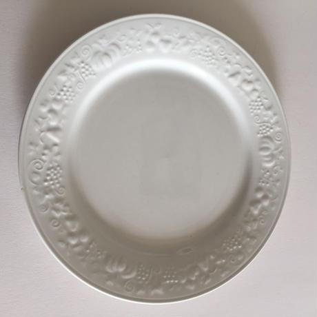 1920年代 サルグミンヌ ディナー・プレート ベジタブル、フルーツレリーフ 白1−6