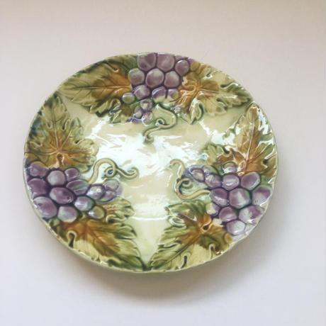 19世紀後半 バルボティーヌ  デザート・プレート   葡萄柄