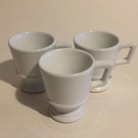 ドゥミ・タス ブリュロ エスプレッソ・カップ 陶器 白 3個セット