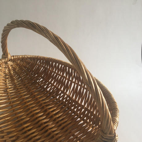 籐製 パニエ バスケット 収穫かご型