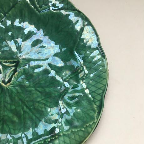 19世紀後半 ジアン バルボティーヌ デザート・プレート 葉っぱモチーフ