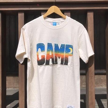 CAMPステンシルプリントTシャツ