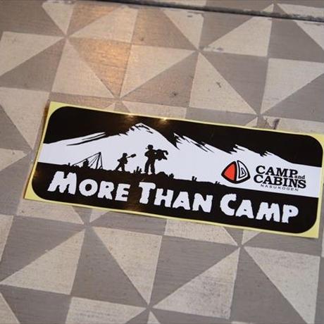 """角""""MORE THAN CAMP""""ステッカー"""