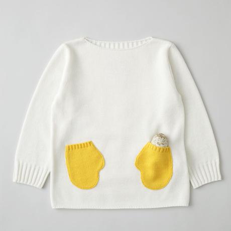"""friendly knit"" mitten sweater yellow"