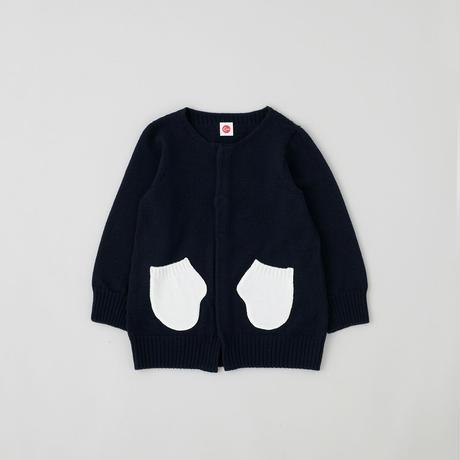 C021802 / mitten cardigan / navy