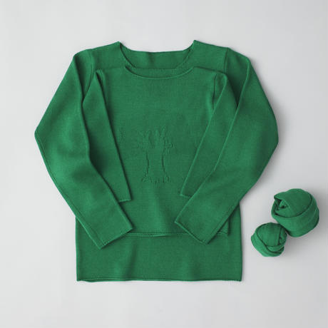 """friendly knit"" camphor sweater  mother green"