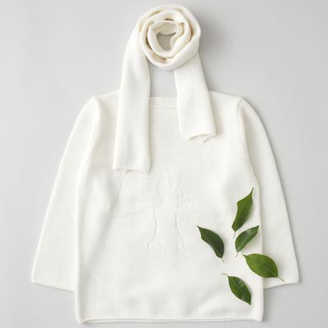 """friendly knit"" camphor sweater white"