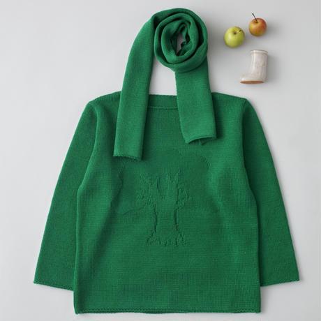 """friendly knit"" camphor sweater green"
